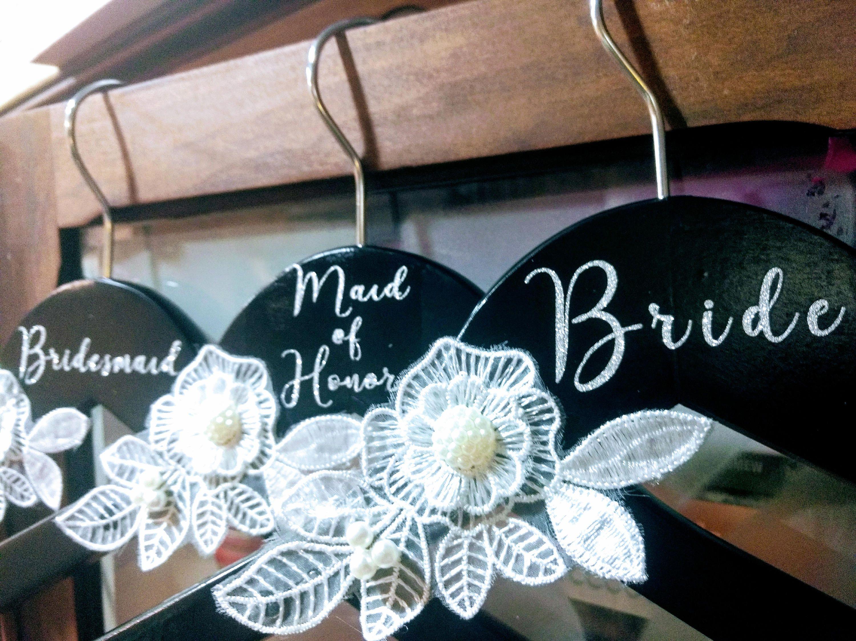 Bridal Hangers, wedding dress hanger, bridal party hangers, wedding ...
