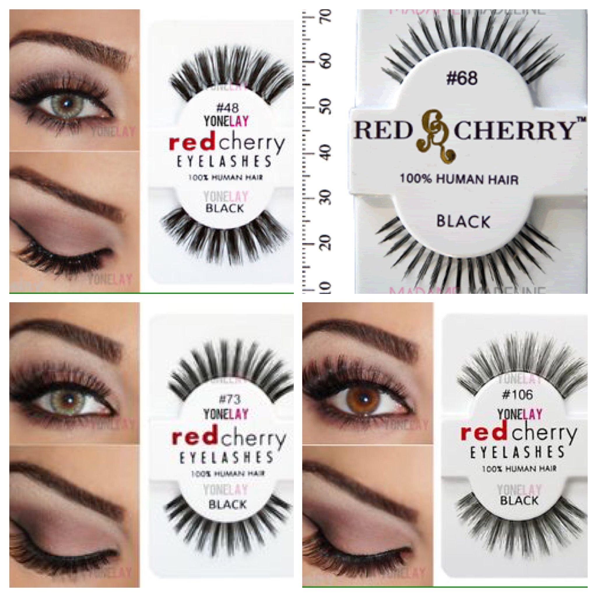 Red Cherry Lashes 48 68 73 106 Make Up Pinterest