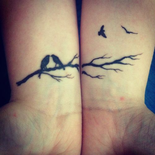 Tiny Black Crow Tattoos These Would Be Great Bestie Tattoos Bird Tattoo Wrist Tiny Bird Tattoos Bird Tattoos For Women