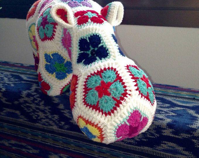 Handmade Crochet African Flowers Happypotamus | crochet | Pinterest ...