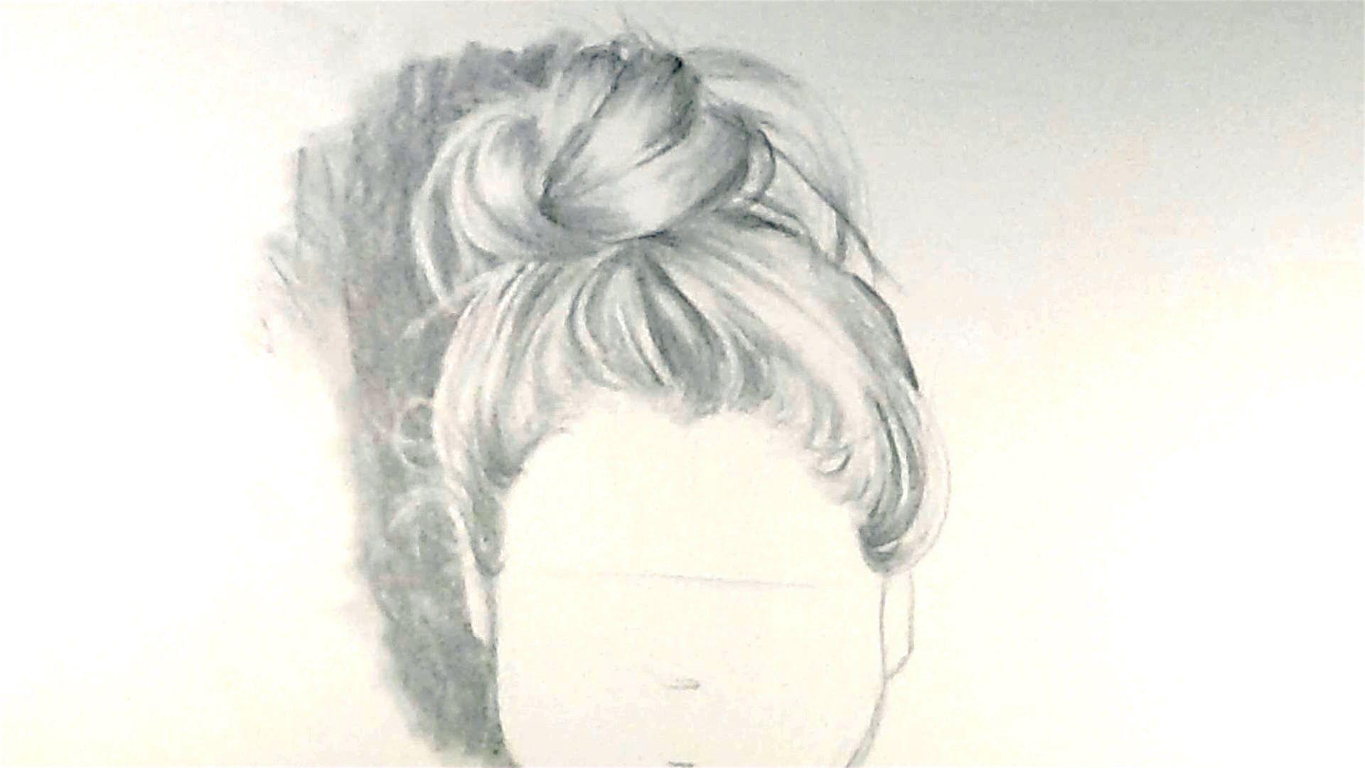 How To Draw Hair In A Bun How To Draw Hair Bun Hairstyles Messy Bun Hairstyles