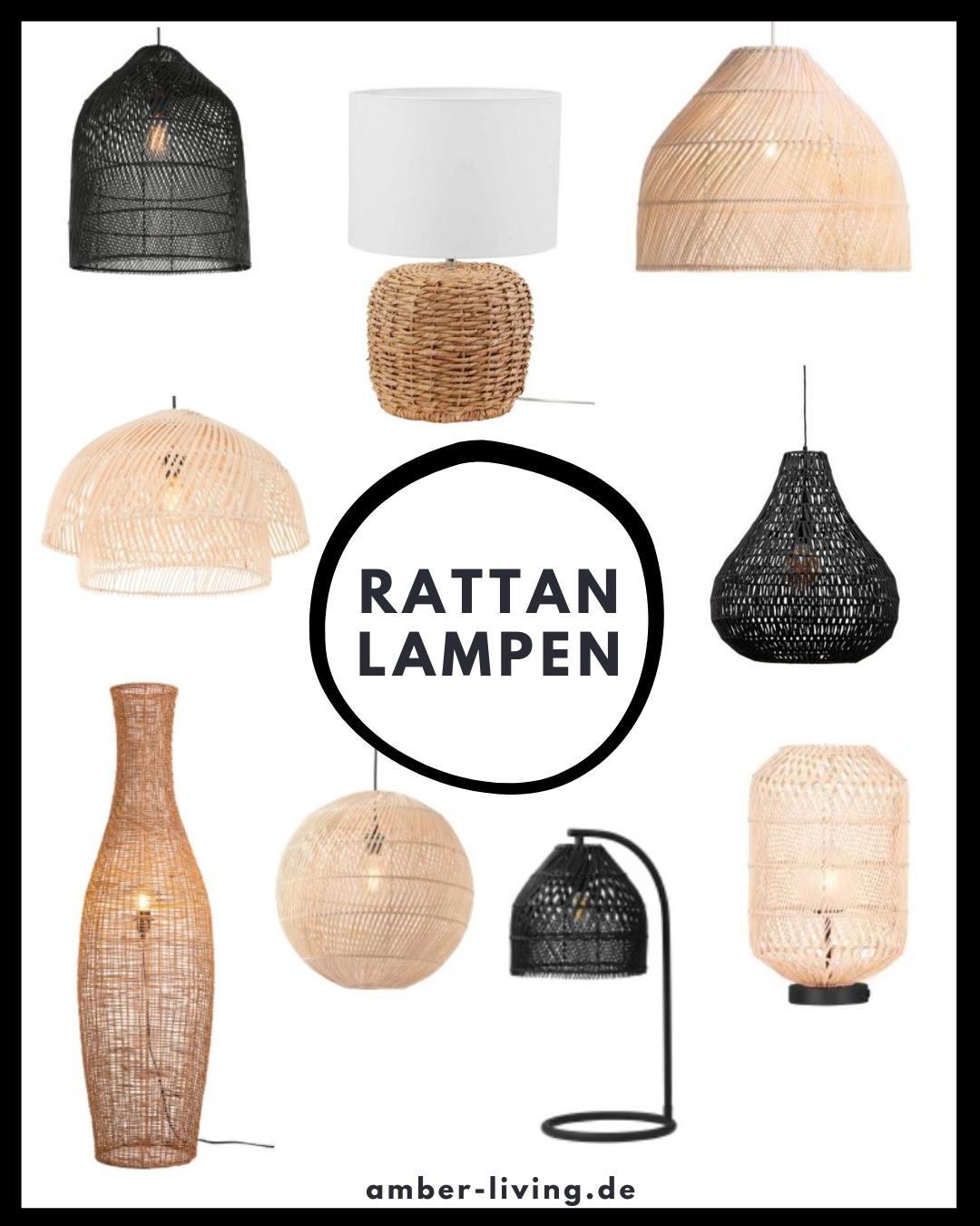 Lampen aus Rattan in 10  Hängelampe kinderzimmer, Rattan lampe