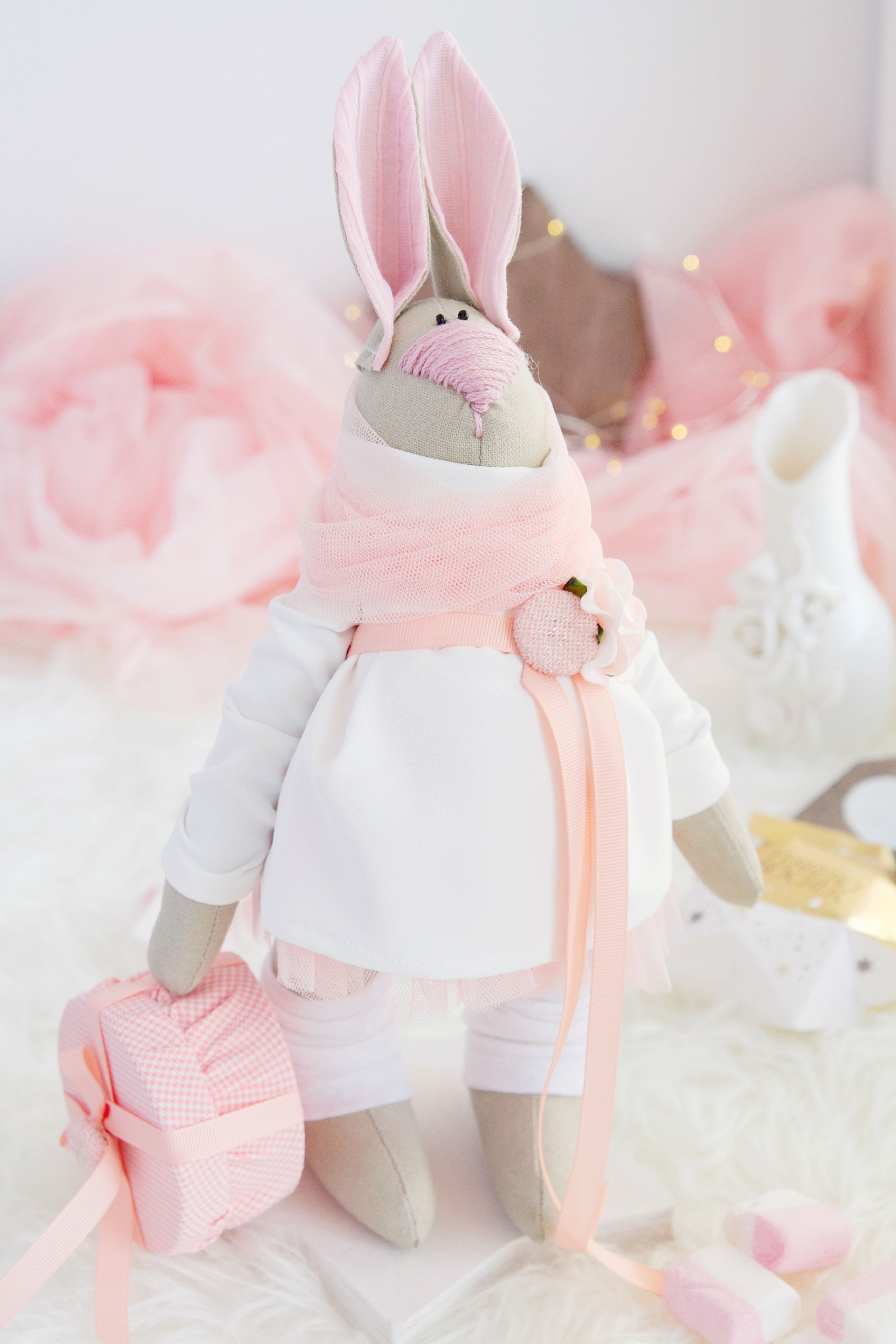 Ester bunny easter home decor easter decoration easter gifts for ester bunny easter home decor easter decoration easter gifts for girls easter gifts for mom pink negle Image collections