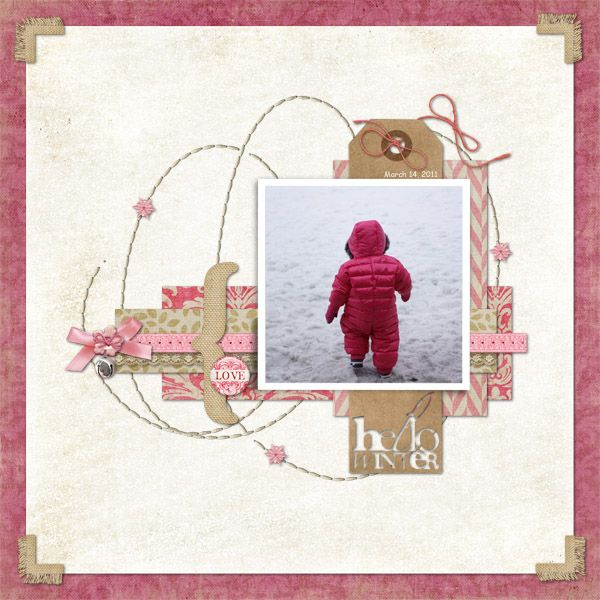 Love this LO!  Hello Winter by pqtn - Shabby Princess blog