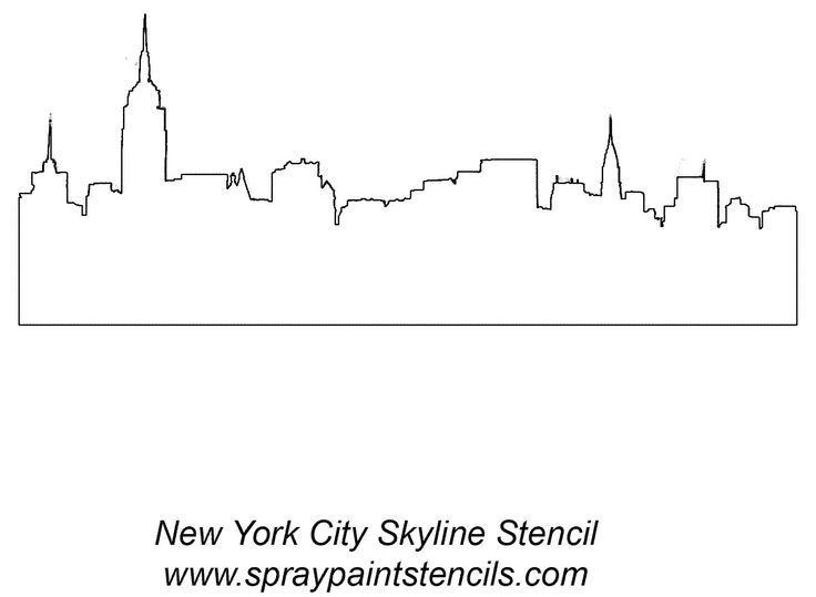 New York New York Skyline Silhouette Skyline Tattoo New York Tattoo
