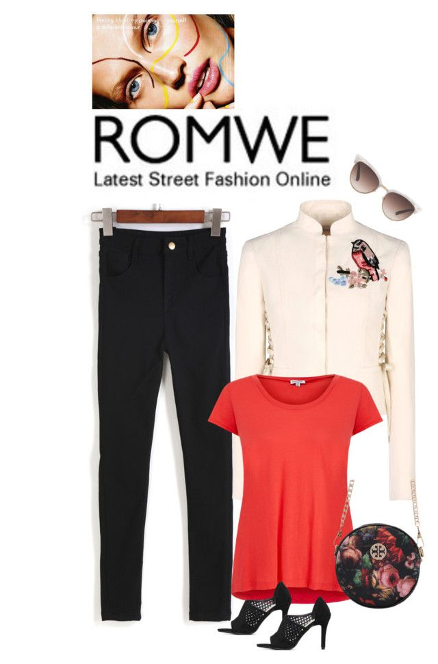 """""""ROMWE DENIM PANTS"""" by yesitsme123 ❤ liked on Polyvore featuring RED Valentino, Gucci and Splendid"""