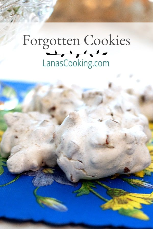 Vintage Recipe for Forgotten Cookies from Never Enough Thyme