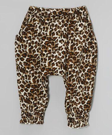 32ac926b8 Loving this Brown   Tan Leopard Harem Pants - Infant