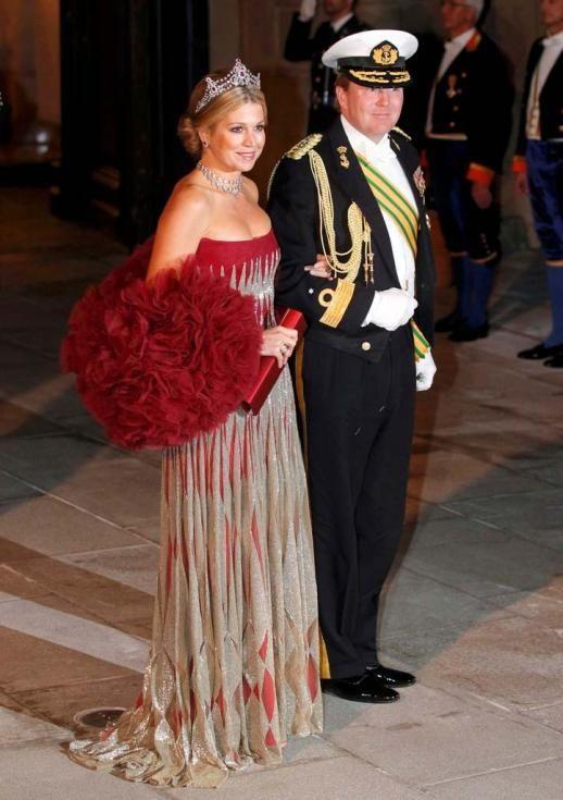 Príncipes Willem-Alexander e Maxima da Holanda - Jantar de gala para comemorar casamento real do Grão Duque Guillaume do Luxemburgo e Stépha...