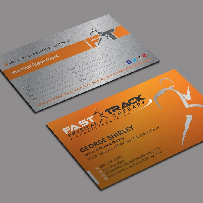 Physical Therapy Business Card Design For Sports Medicine Related Business By Kaylee Ck Physical Therapy Business Classic Business Card Business Card Design