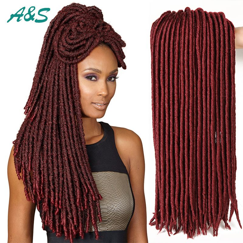Find more bulk hair information about burgundy colored faux locs find more bulk hair information about burgundy colored faux locs crochet hair extension dreadlock synthetic hair pmusecretfo Gallery