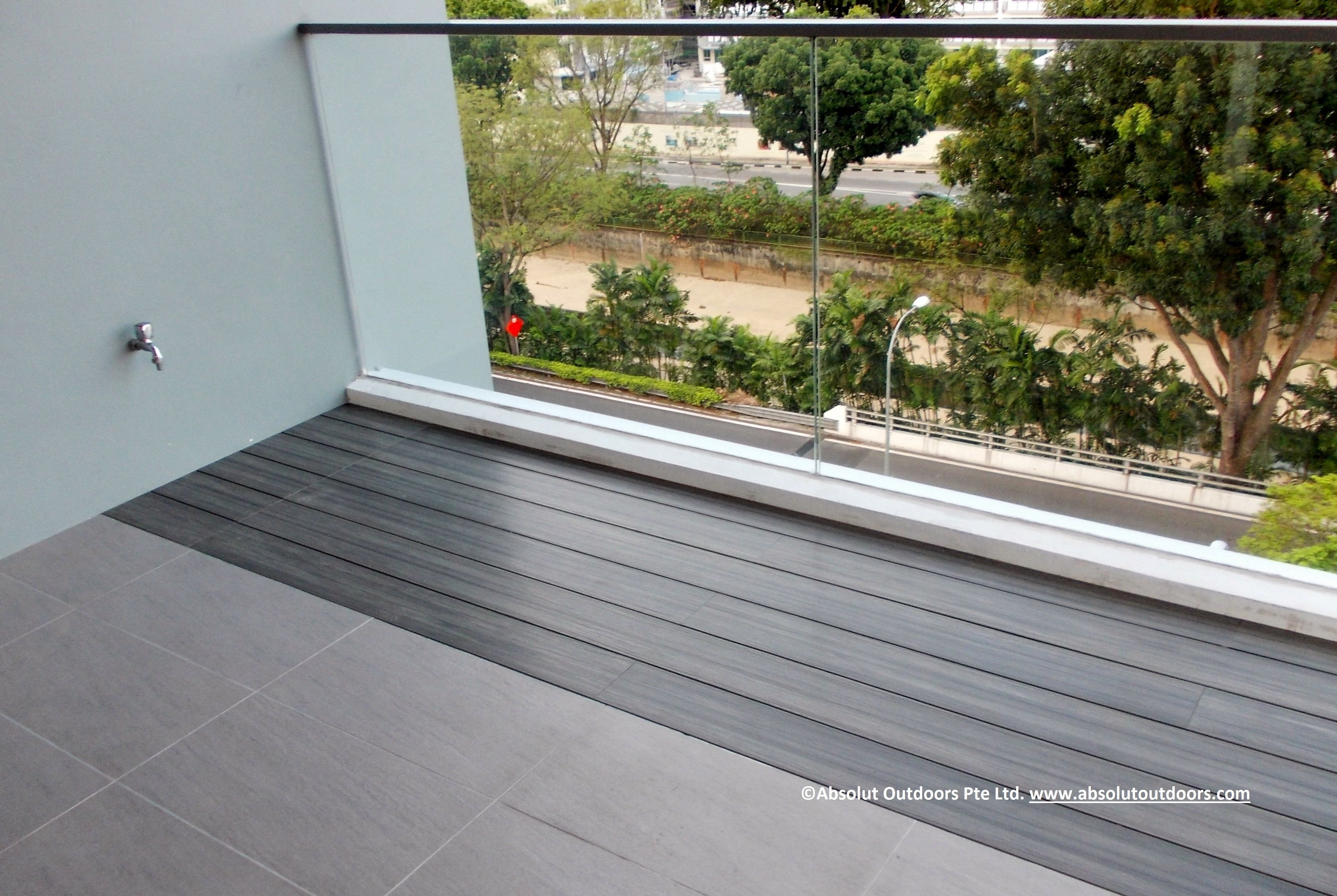 Planter Box With Composite Wood Decking