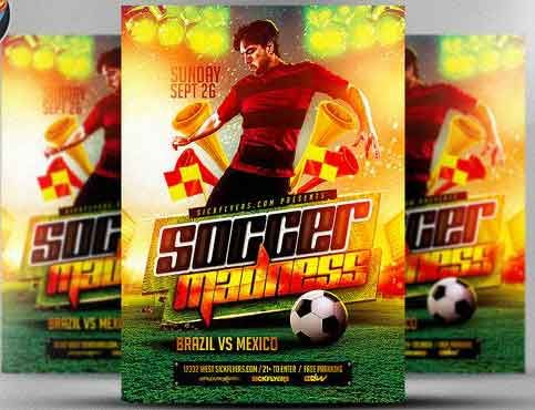 Soccer Madness Flyer Template Flyer Templates Pinterest Flyer