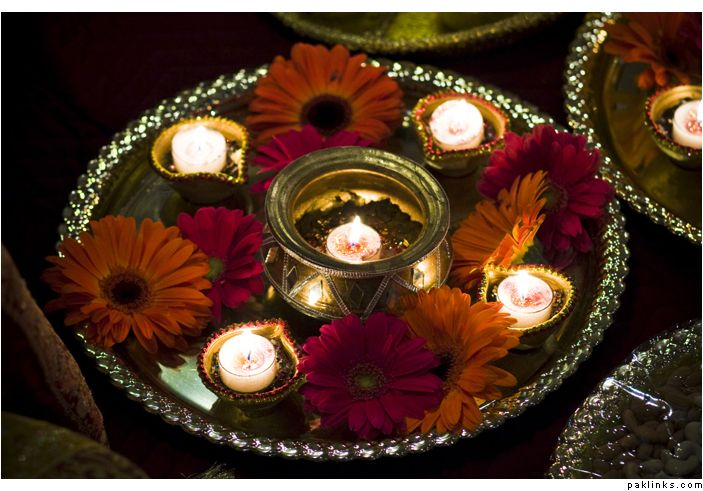 Mehndi Thaal Decoration Ideas I : Mehndi thaals dream centerpieces and wedding