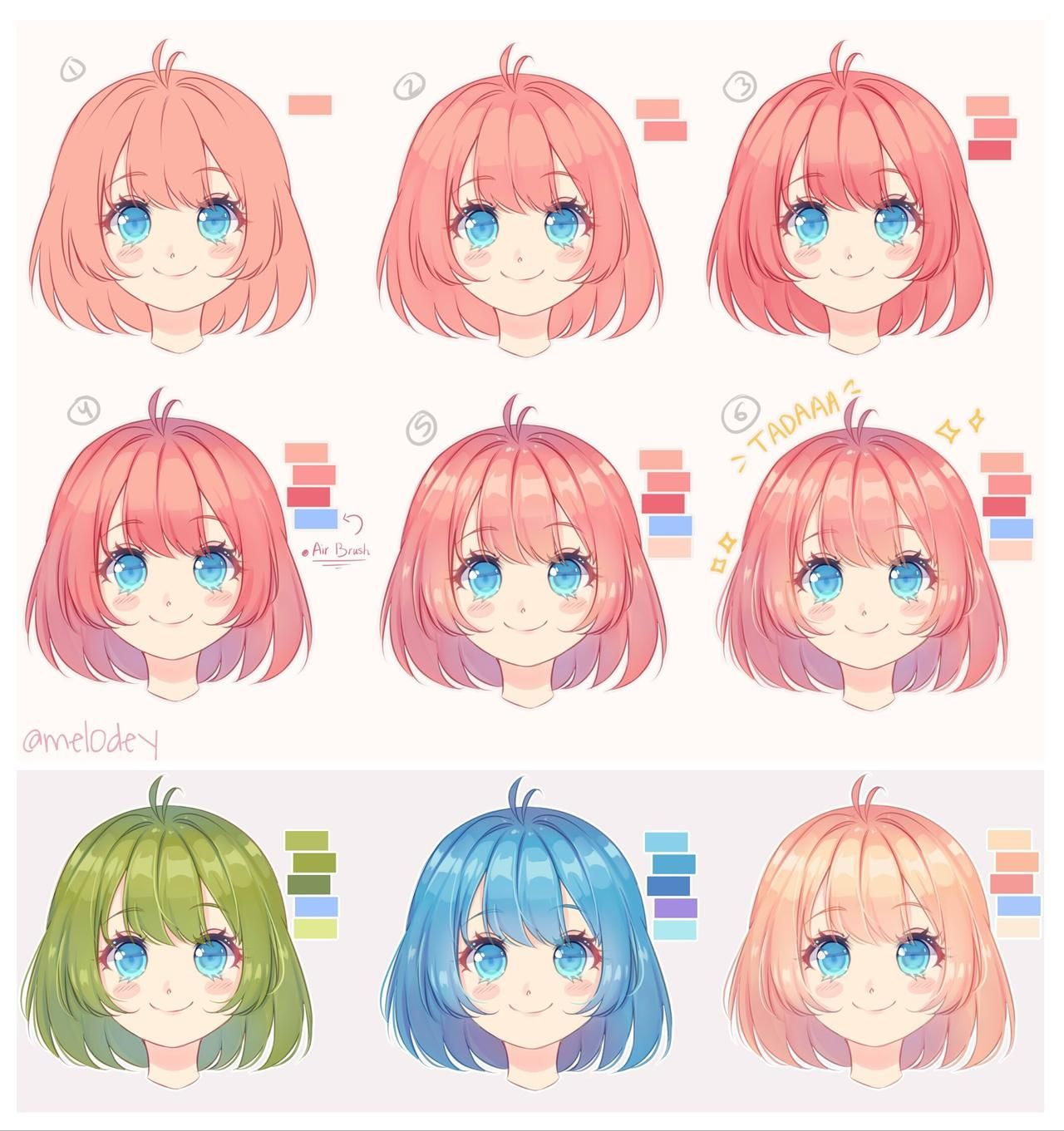 Photo of Hair tutorial by mel0des on DeviantArt
