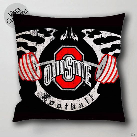 Ohio State Football Pillow Case Chusion Cover 1 Or 2 Side Print With Size