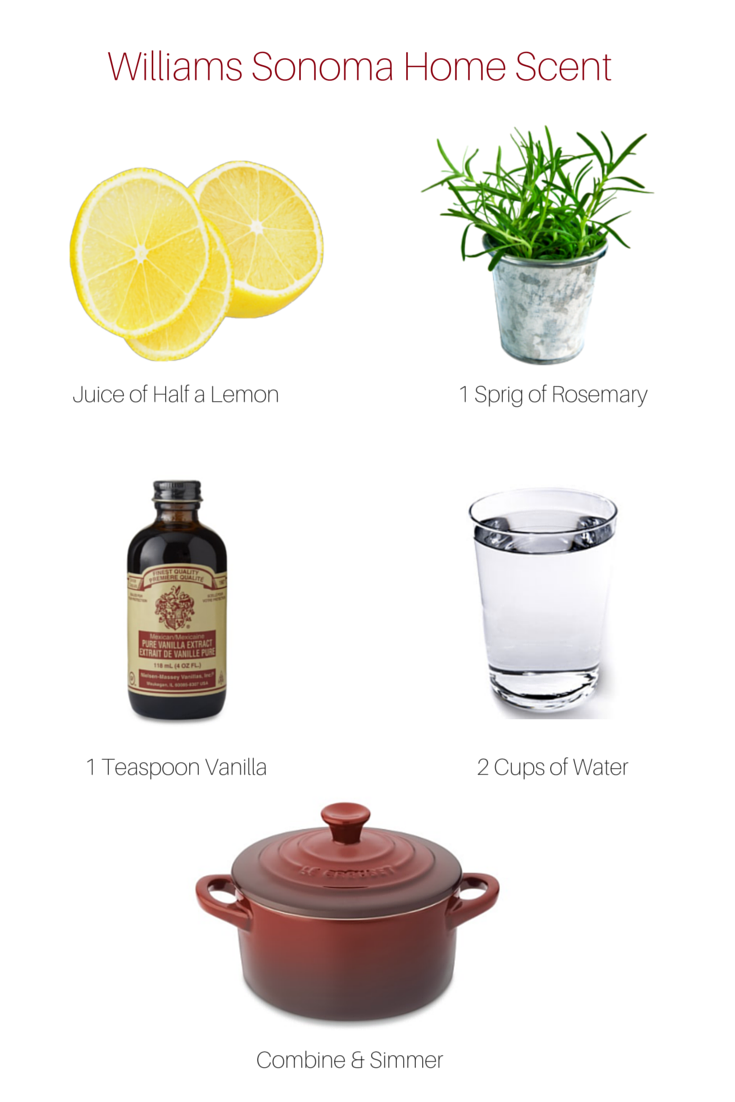 Love The Scent Of Williams Sonoma Here S Recipe Home Scents For