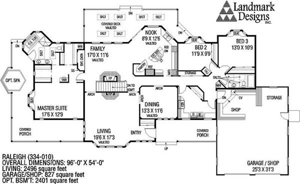 28+ [ Ranch Style Floor Plans 3000 Sq Ft ] | Small House Plans ...