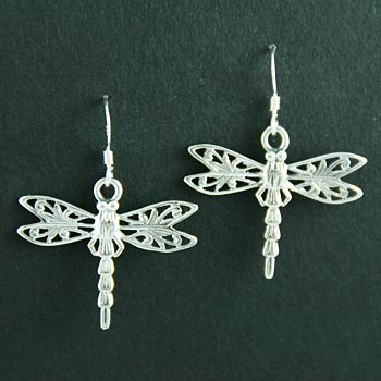 Dragonfly Earrings Zoomorphic Celtic Earrings Celtic Earrings