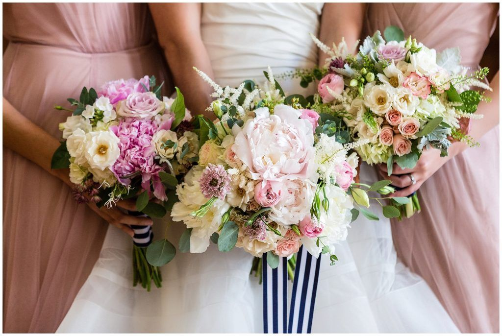 white, peach and pink wedding flowers and inspiration, Leigh Florist