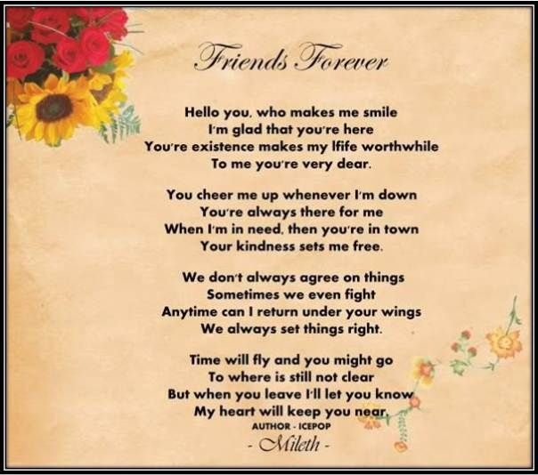 Discovery Of Difference Friend Poem Best Forever Love Quotes Essay On Friendship
