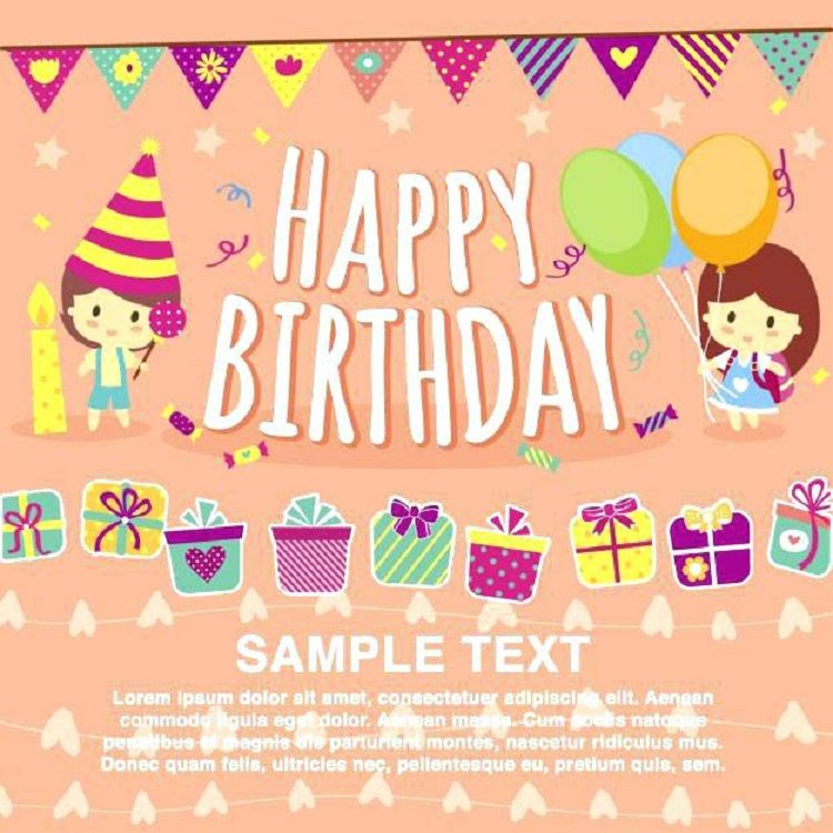 Birthday Invitation Card Animated Download Free Birthday