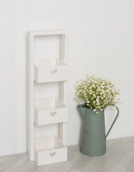 White Wooden Bathroom Storage Caddy