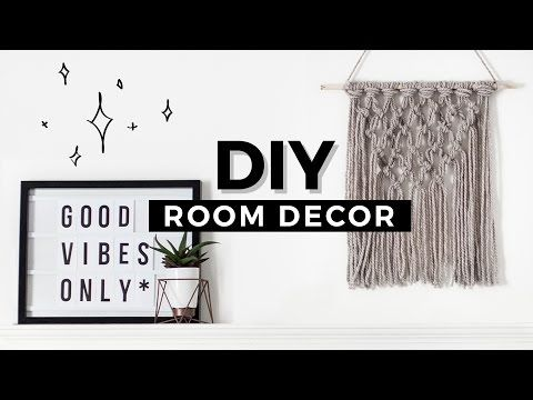 DIY Room Decor Tumblr Inspired! Affordable & Minimal! - YouTube