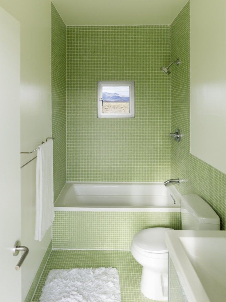Splendid Tiny Bathroom With Shower Ideas Presenting Green Themed - Embellished towels for small bathroom ideas