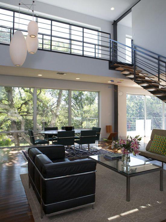 Austin Spaces Metal Poles Design Pictures Remodel Decor And Ideas Adorable Austin Home Remodeling Decor Design