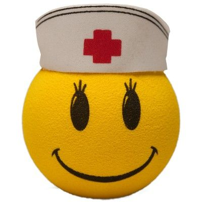 """Happy Face Nurse"" Antenna Topper from http://shop.advanceweb.com."