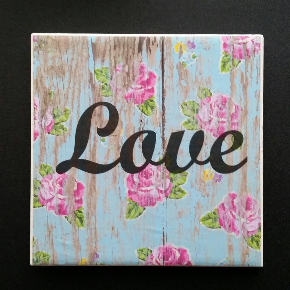Barnwood Pretty Theme Handmade Tile Hotplate Tile Size- 6x6  $15