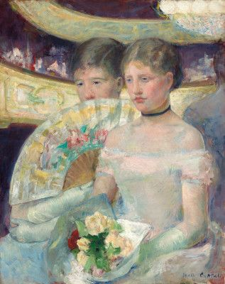 Mary Cassatt, *The Loge* 1878-1880 on ArtStack #mary-cassatt #art