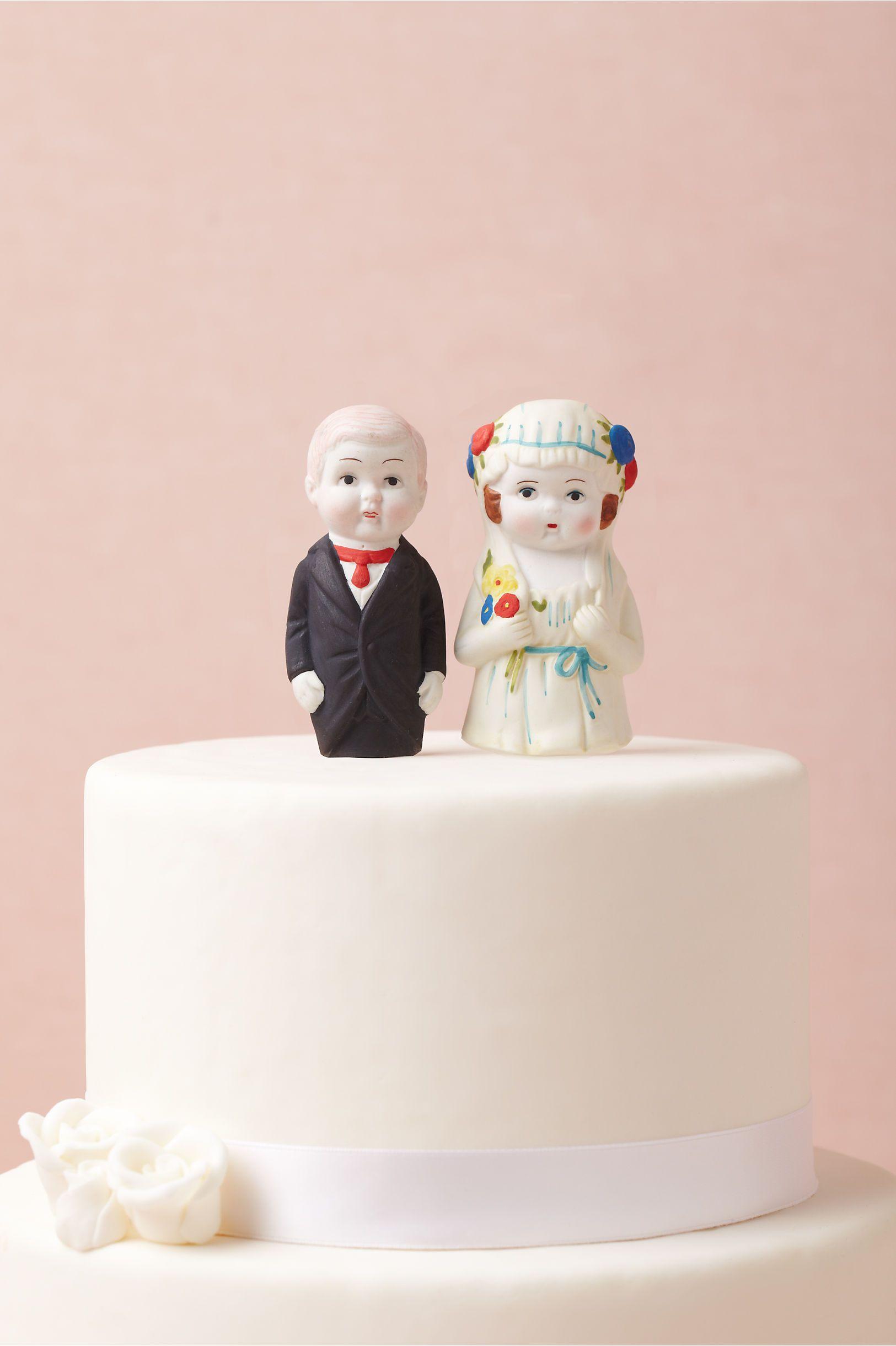 Newlyweds Cake Topper in SHOP Sale at BHLDN | Sweet Weddings ...