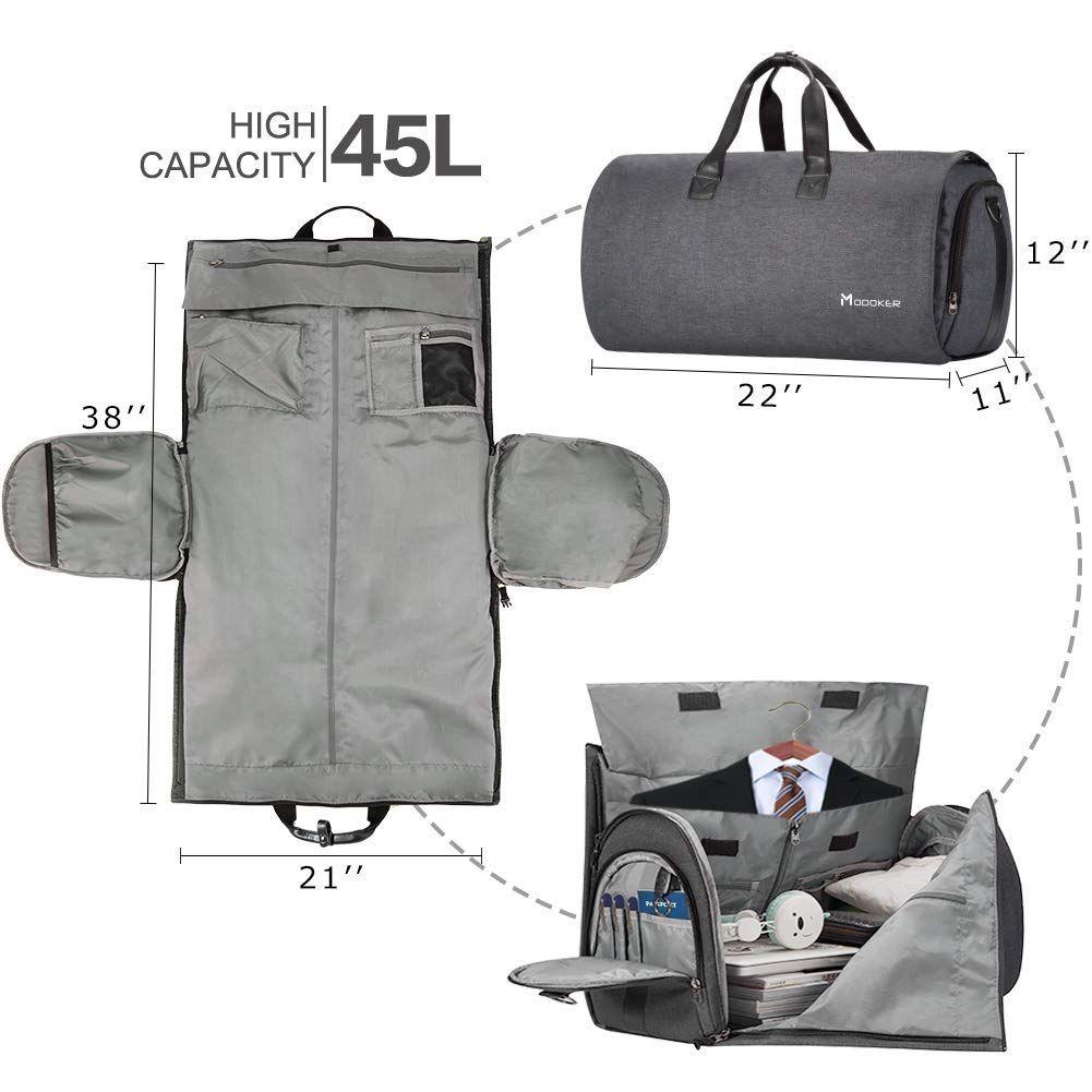 Dustproof Garment Bag Hanging Suit Bag for Travel Storage Packing Handbag