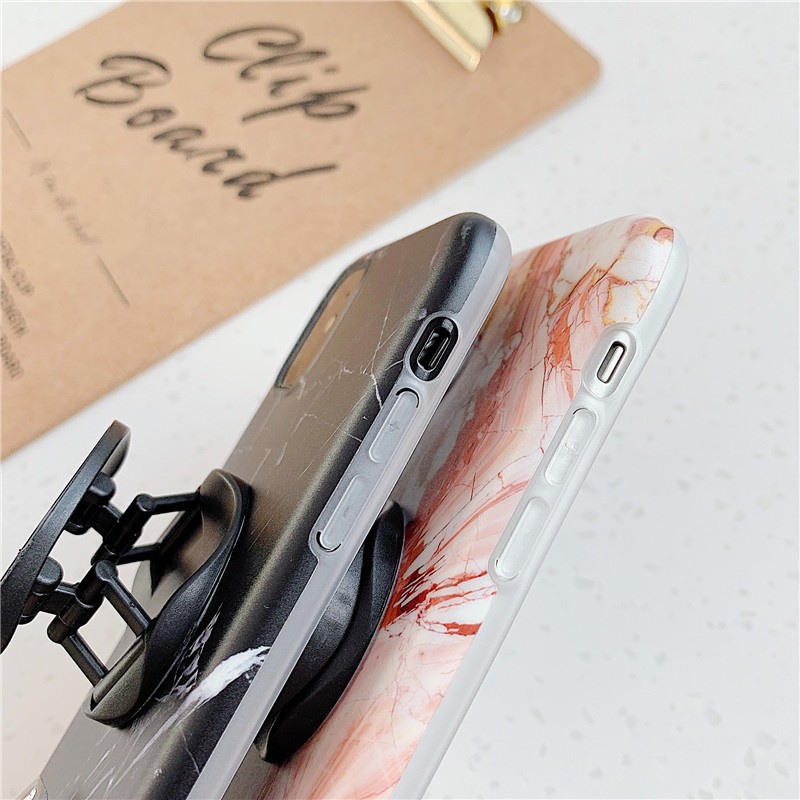 Flykylin Holder Stand Marble Case For Iphone 11 Pro Max Back Cover For Huawei P30 Pro P20 Lite Skin Imd On Silicone Pho Things To Sell Marble Case Iphone Cases