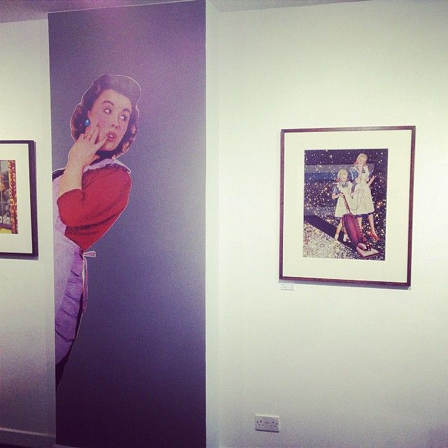 @hangupgallery exhibition continues for the next couple of weeks #joewebb #stokenewington #sweetarmageddon  #dalston #london #art #collage