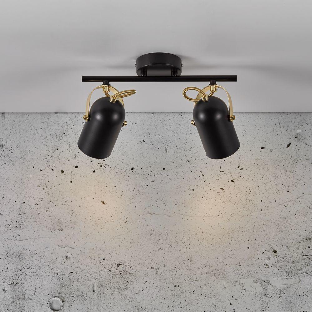 Deckenspot Lotus In Schwarz Und Messing E14 2 Flammig Nordlux 50110103 In 2020 Deckenspots Led Lampe Lotus