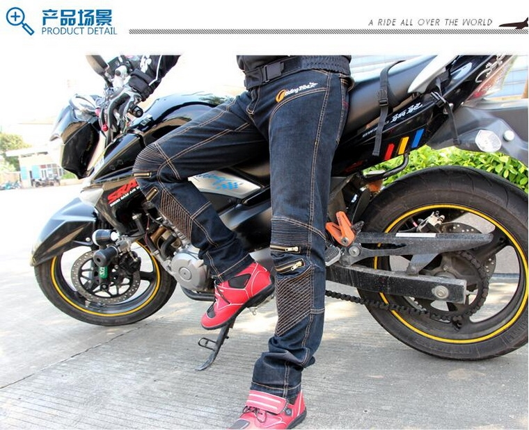 54.56$  Buy now - 2017 Summer New Riding Tribe Motorcycle Jeans man Motorbike Pants Cross trousers Moto Racing Pant made of cotton Elastic fibers   #aliexpress