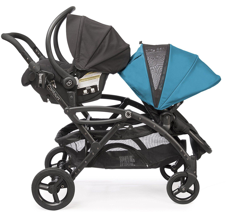 Amazon Contours Options Elite Tandem Double Stroller Laguna Blue Baby