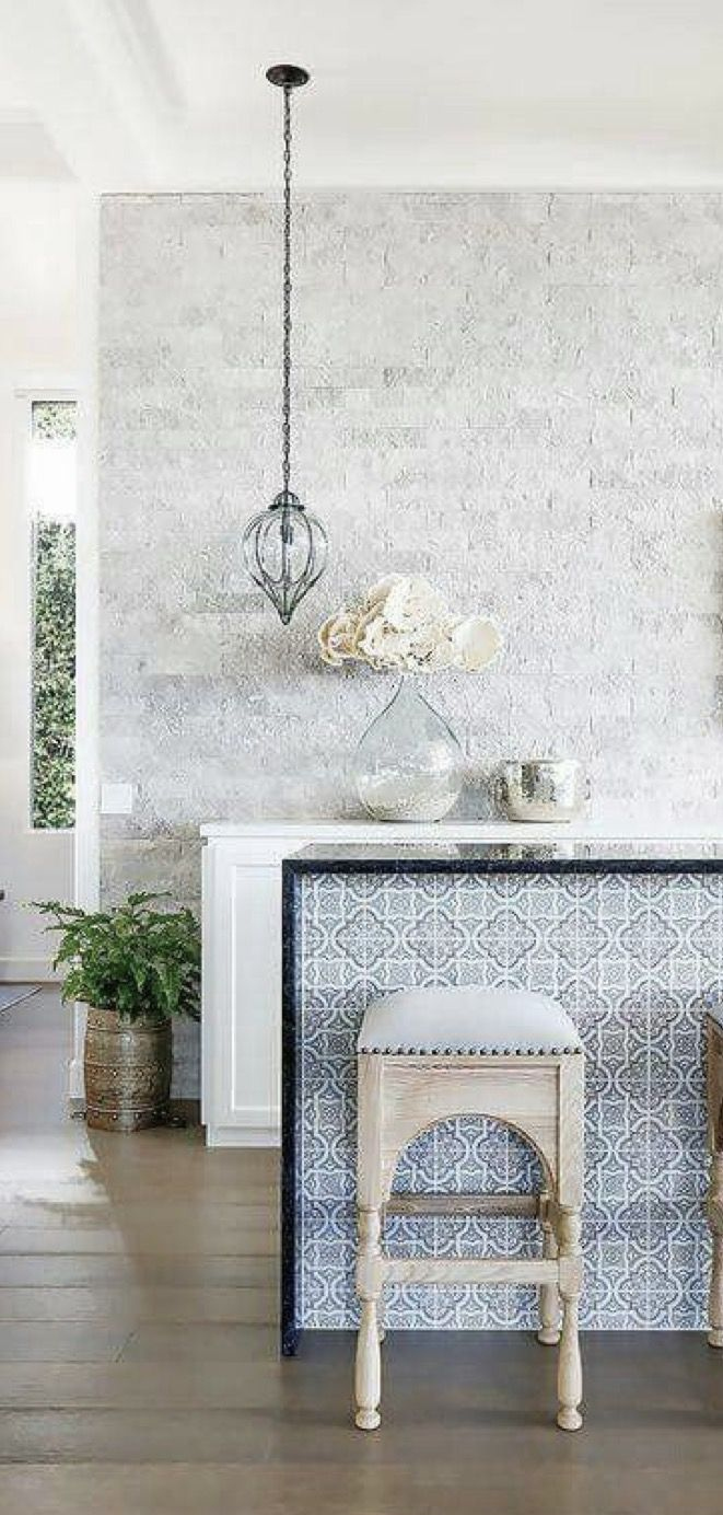 Beach House kitchen with a Moroccan flair.  Modern moroccan decor