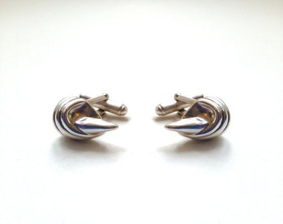 Sterling silver swivel bar cufflinks.   Made on Hatch.co