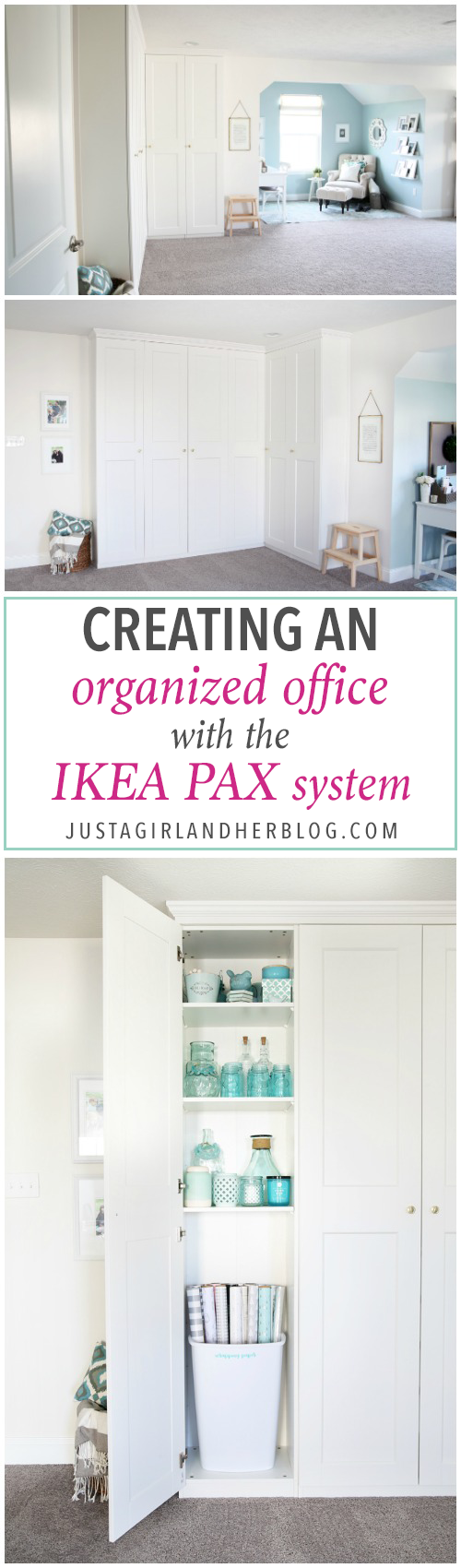 Creating An Organized Office With The Ikea Pax System Ikea Pax Home Office Storage Pax System