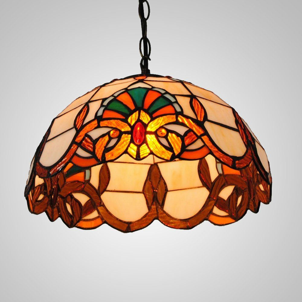 pd glass bronze in pendant tiffany shop single of style warehouse dome stained