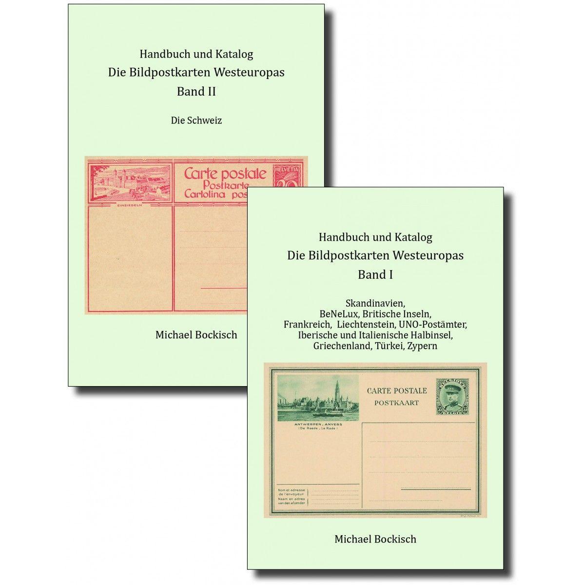 Michael Bockisch: Die Bildpostkarten Westeuropas, Handbuch und Katalog Band I und Band II