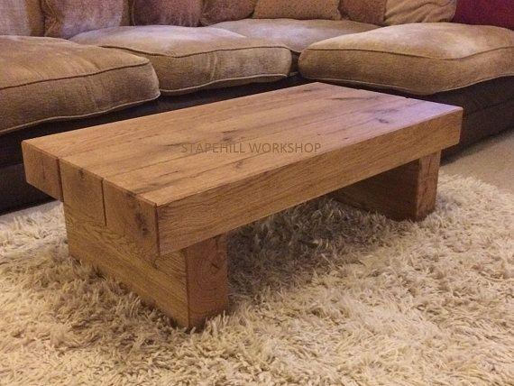 Oak Beam Coffee Table 3 Beam Dark Oak Rustic By