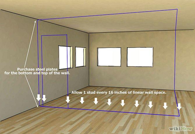 Install Metal Studs Framing Basement Walls Metal Stud