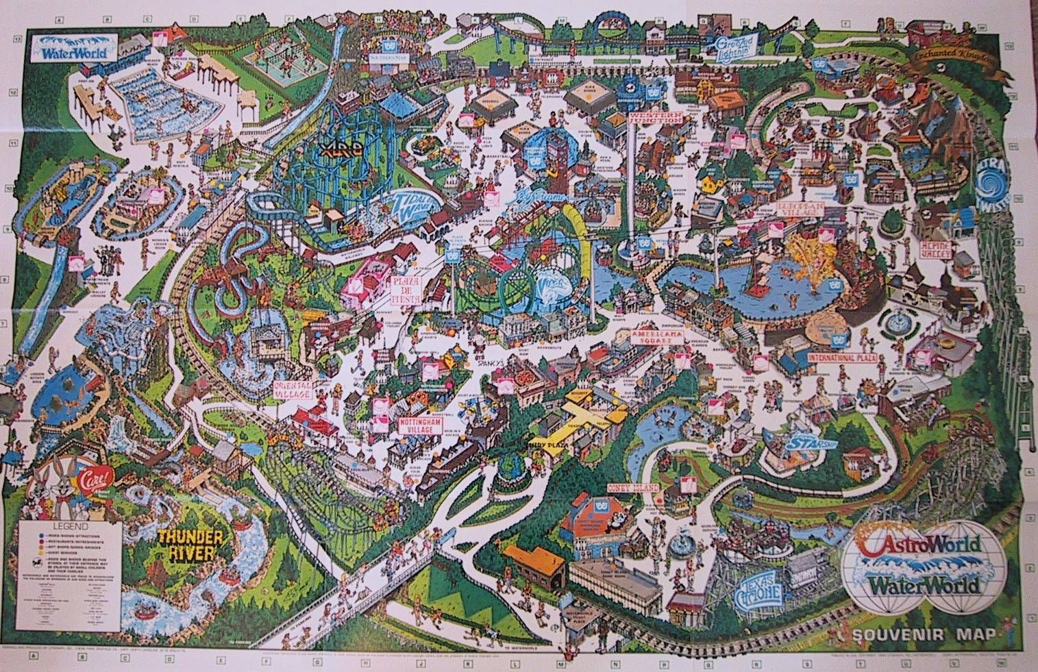 The Crazy World Of Honey Bunny Six Flags Astroworld Park Maps