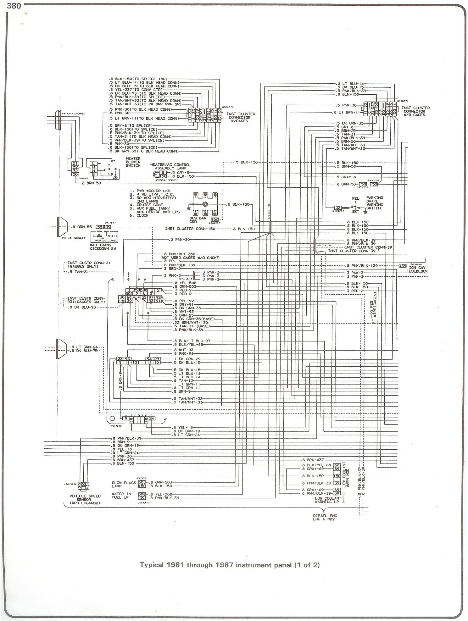 complete 73 87 wiring diagrams for 1982 chevy truck diagram 1989 Chevy Truck Wiring Diagram