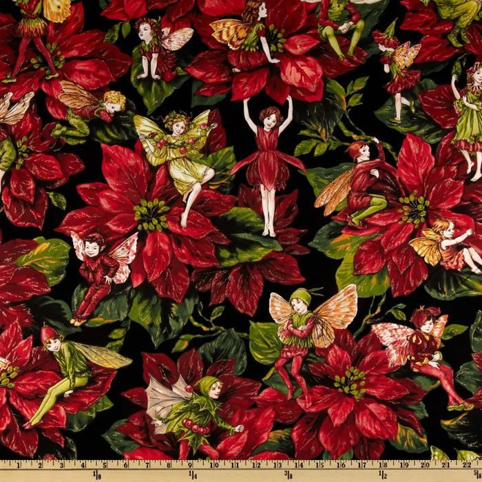FABRIC 2//3 YDS Michel Miller Merry Christmas Panel QUILT SEW